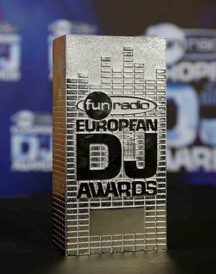 Le trophée Fun Radio European DJ Awards remis ce dimanche aux DJs vainqueurs