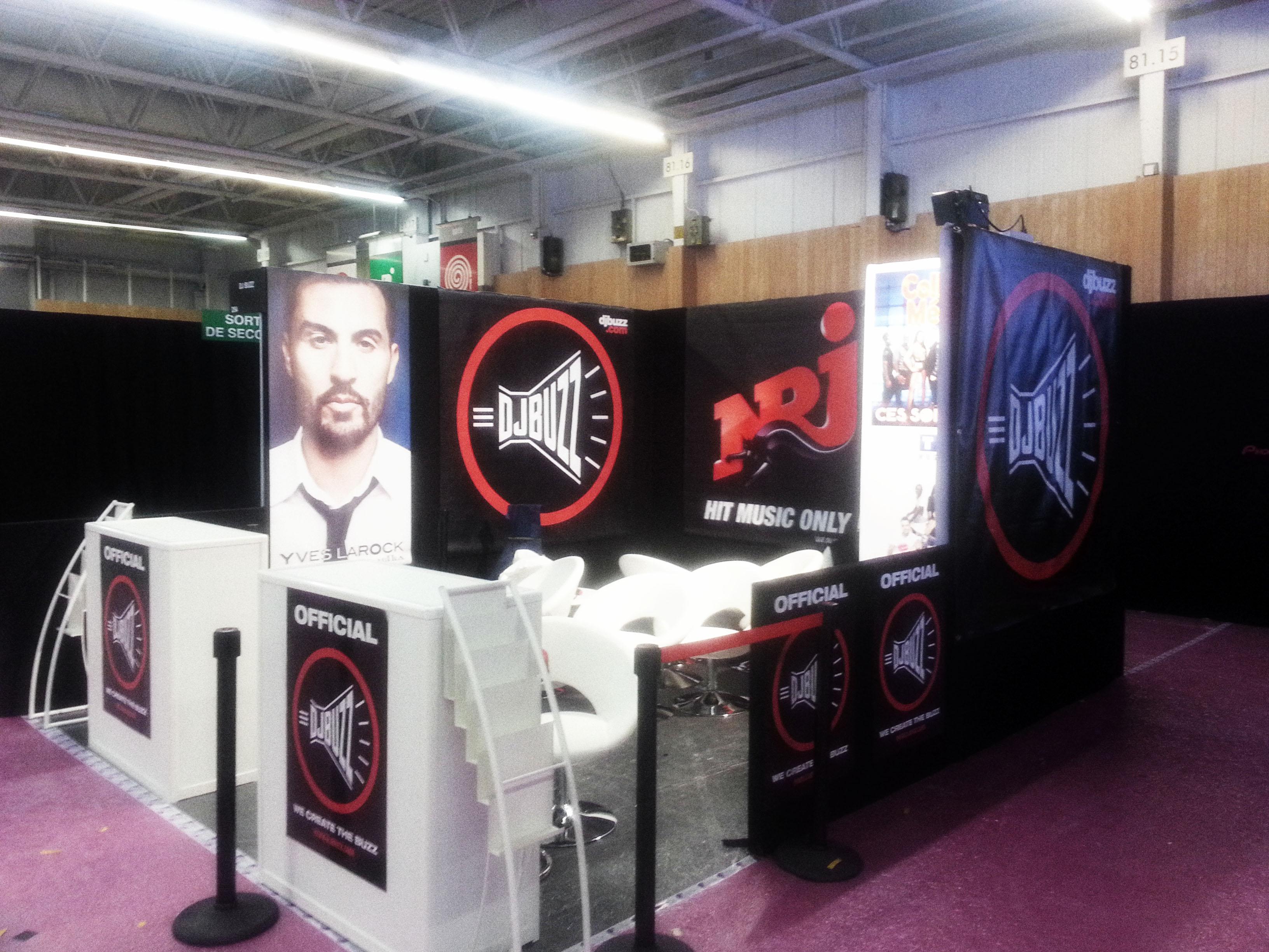 Le stand de DJBuzz au salon MixMove/Discom jusqu'à ce soir