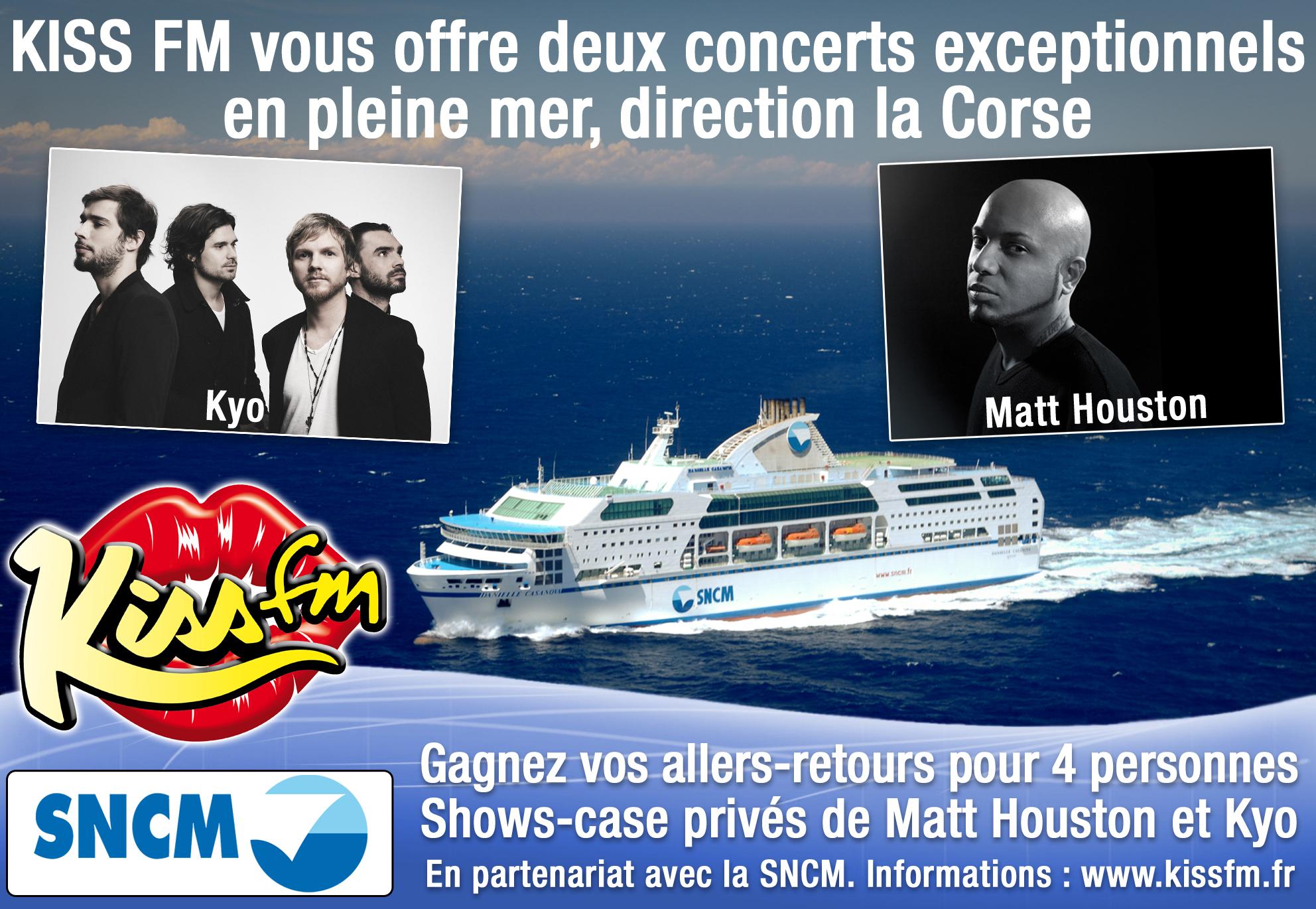 Kiss FM : des concerts privés... en mer