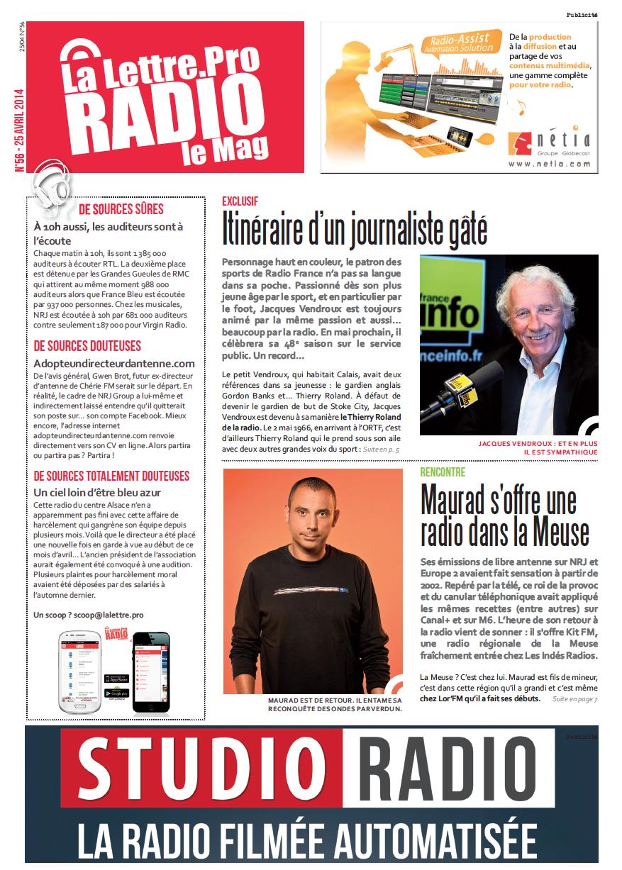 """La Lettre Pro de la Radio"""" : découvrez le n° 56"""