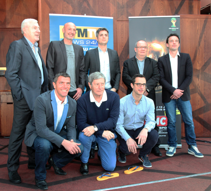 La Dream Team RMC qui couvrira la prochaine Coupe du monde au Brésil