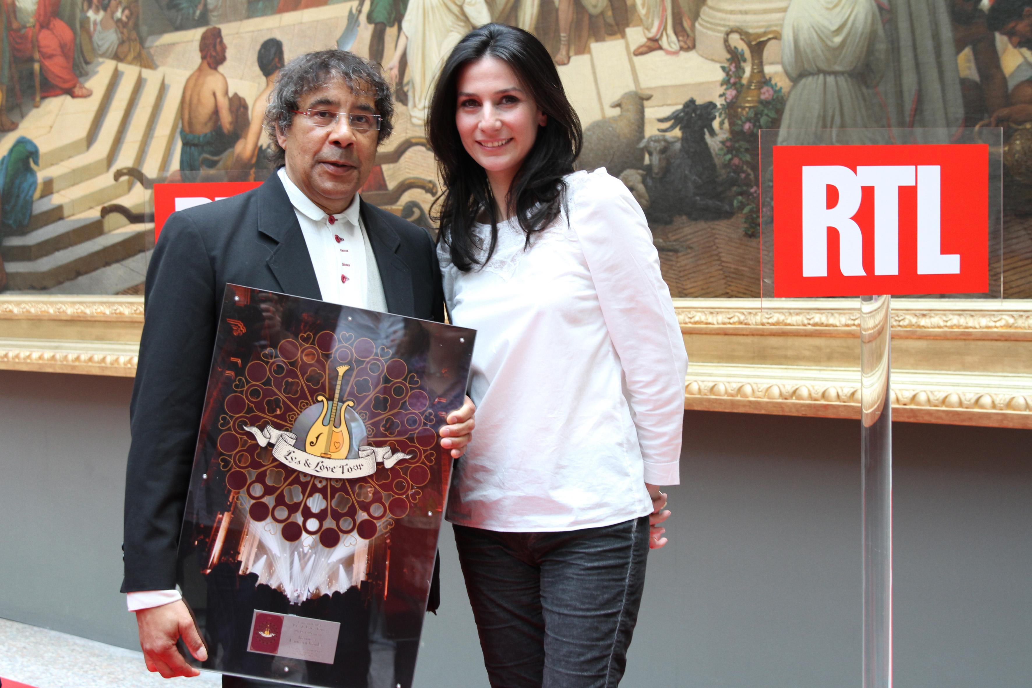 Laurent Voulzy avec Marie Drucker © Crédit Stéphane Cazard / Abacapress pour RTL