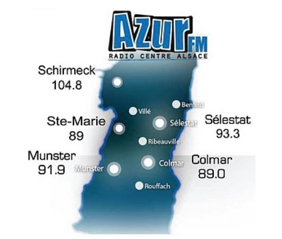 Azur FM, la radio associative du centre-Alsace.