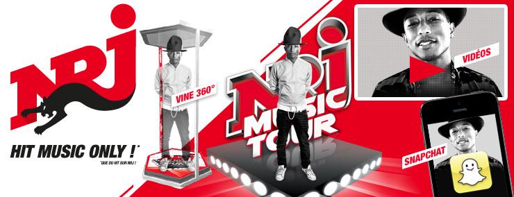 Dispositif digital inédit pour vivre le NRJ Music Tour