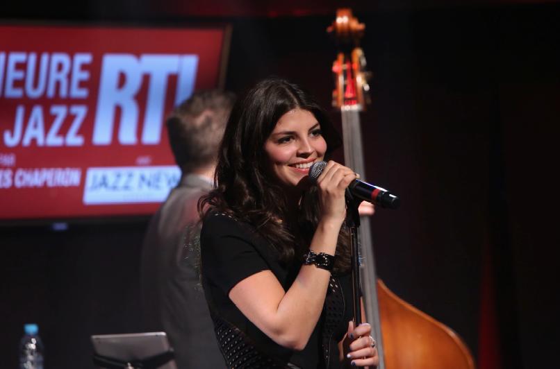 Nikki Yanosky dans le Grand Studio RTL © Fred Bukajlo-Abacapress pour RTL