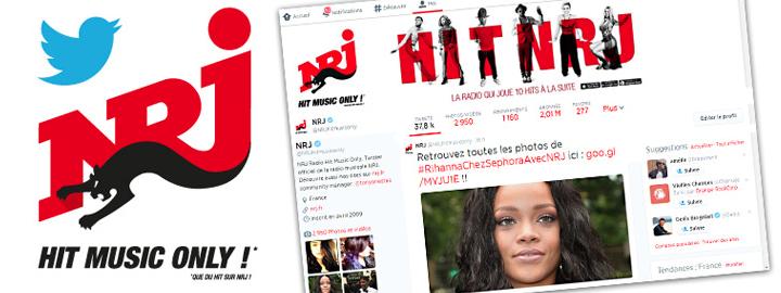 NRJ passe le cap des 2 millions de followers