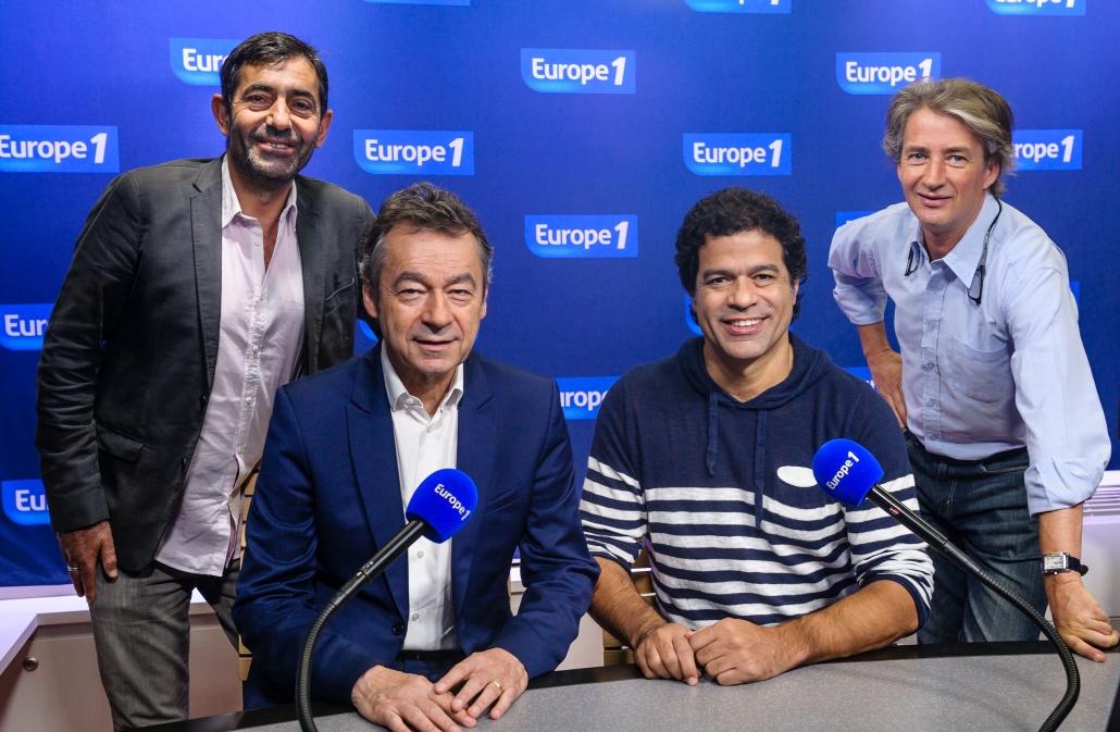 François Clauss, Michel Denisot, Rai et Nicolas Poincaré : une partie de l'équipe d'Europe 1 mobilisée à l'occasion de la Coup du monde © Capa Pictures