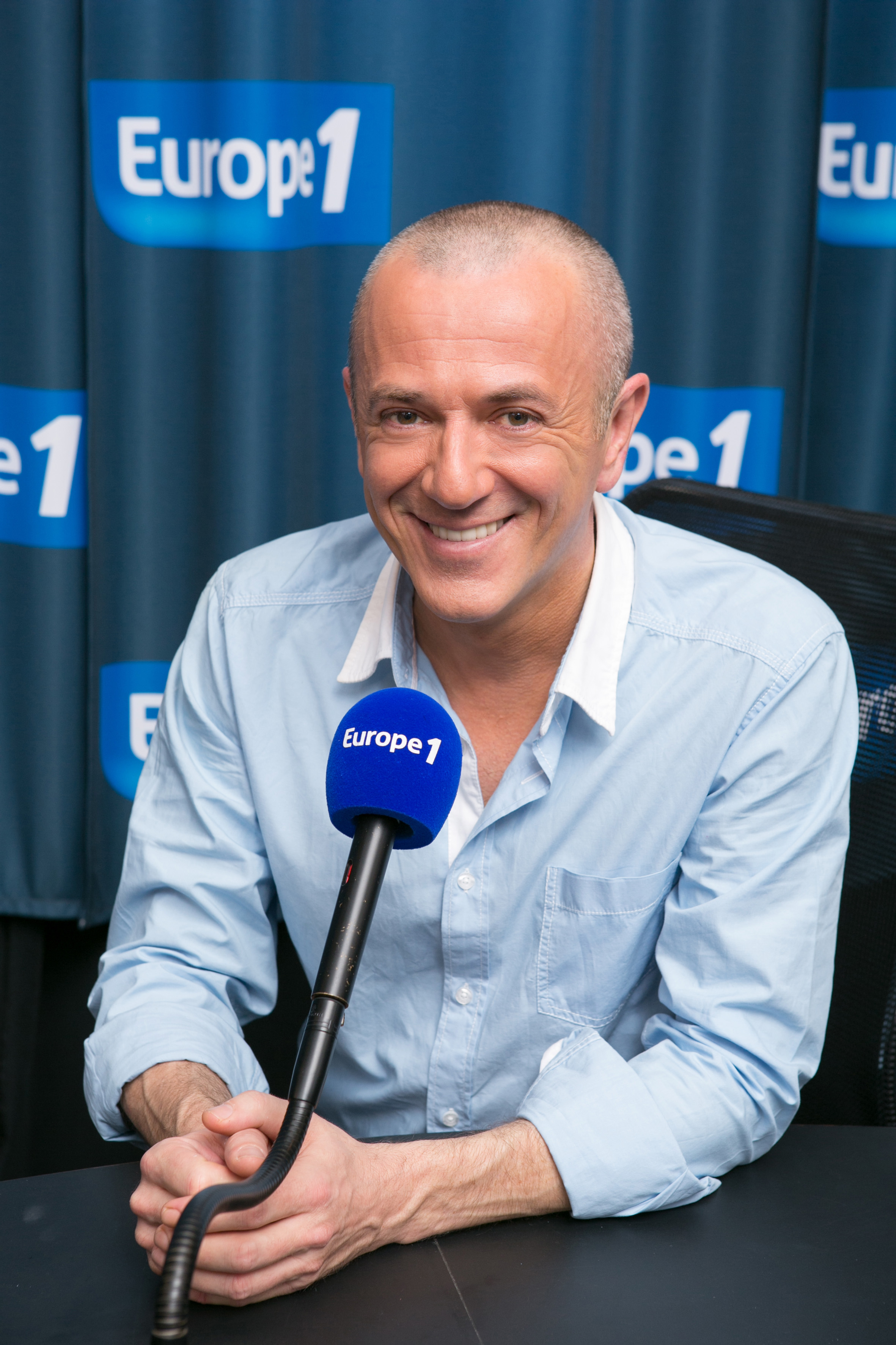 L'animateur Thierry Lecamp © Julien Lutt - Capa Pictures -Europe 1