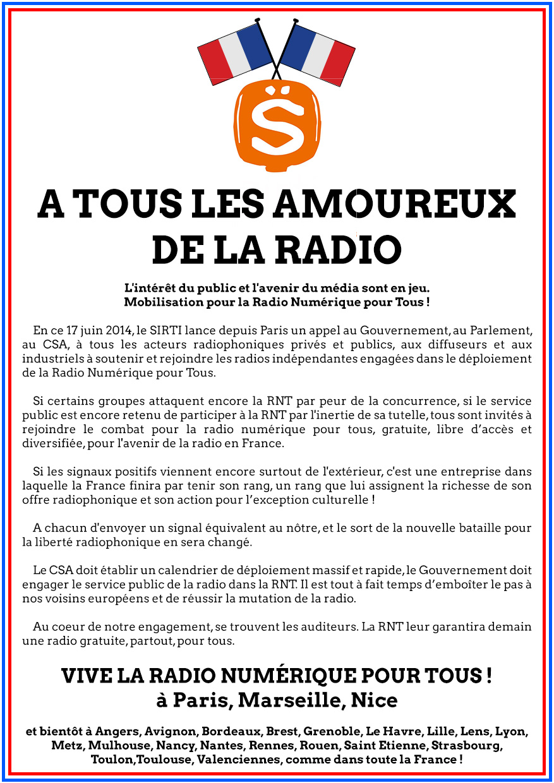 """Le SIRTI lance la RNT """"pour tous"""""""