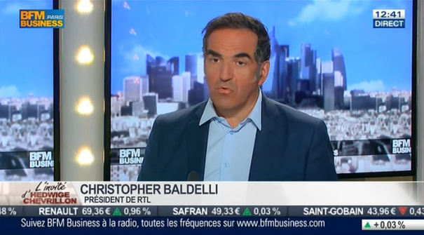 Ce 20 juin, Christopher Baldelli, président de RTL, était l'invité d'Hedwige Chevrillon sur BFM Business