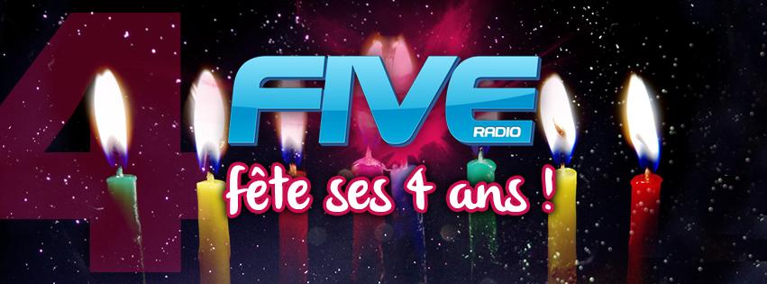 Pour ses 4 ans, Five Radio se plie en quatre !