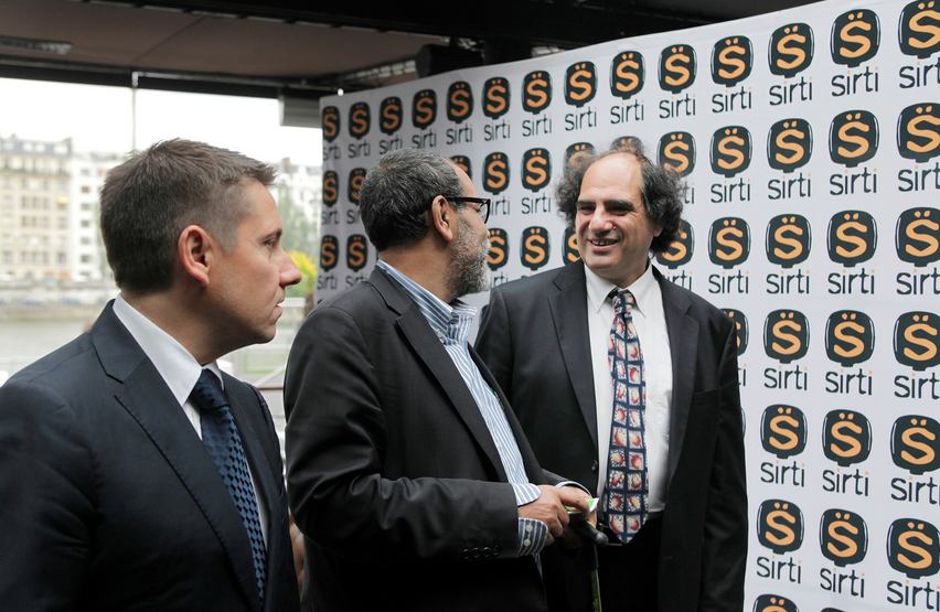 """Les dirigeants du SIRTI (de gauche à droite) : Mathieu Quétel, Tarek Mami et Philippe Gault, lors de """"L'Appel du 17 juin"""""""