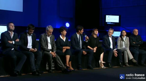 """Les dirigeants des 7 chaines de Radio France. """"Nous avons des objectifs de conquêtes, de renouvellement et de fidélisation"""" a expliqué Frédéric Schlesinger"""