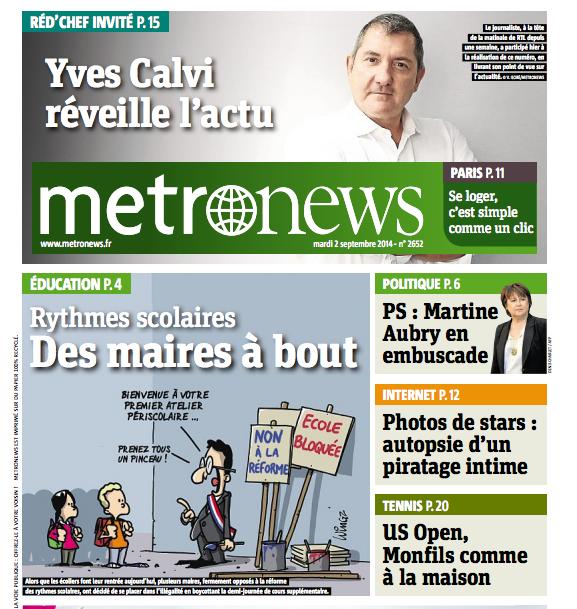 Yves Calvi Red' Chef invité de metronews