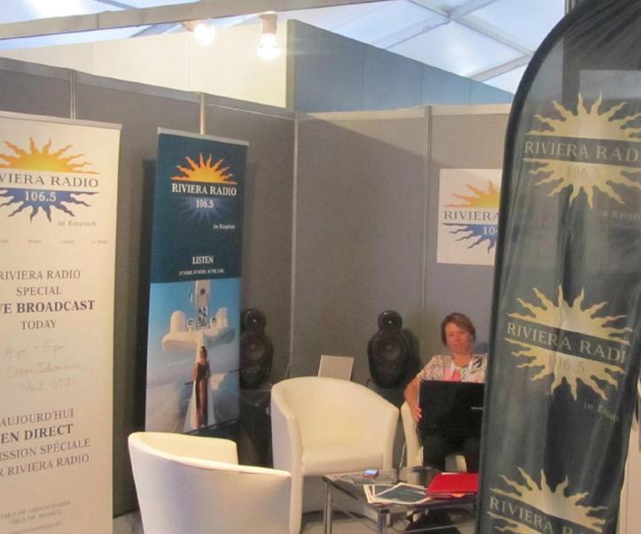 """Riviera Radio, """"la radio de la Côte d'Azur en anglais"""", assuré déjà la couverture du Monaco Yacht Show l'an passé"""