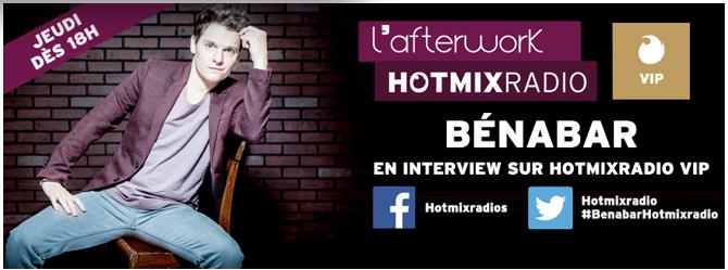 Benabar invité ce jeudi soir sur Hotmix Radio