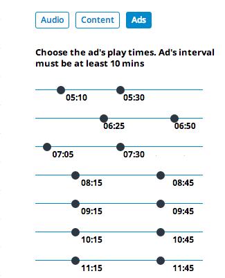 Les producteurs de radio peuvent désormais choisir l'heure de diffusion des deux écrans publicitaires diffusés chaque heure