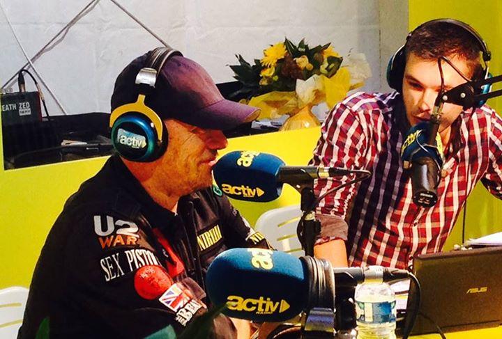 Pascal Obispo au micro d'Activ Radio à la Foire de Saint-Etienne