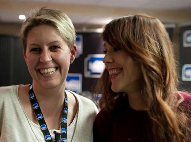 Audrey, auditrice VIP des Talents France Bleu 2013 avec la chanteuse Zaz