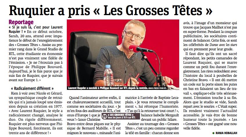 """Ruquier a pris """"Les Grosses Têtes"""""""