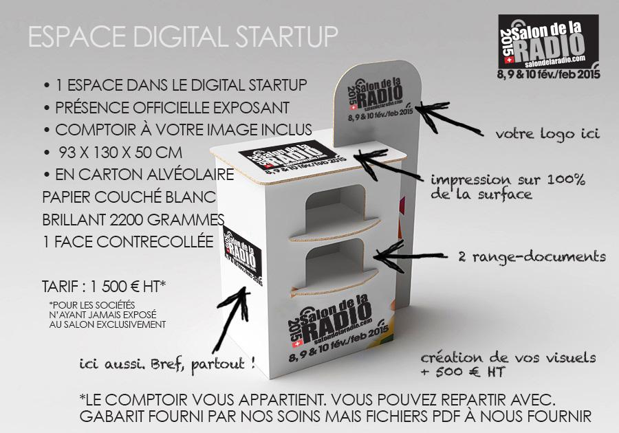 Le nouvel espace Digital Startup du Salon de la Radio