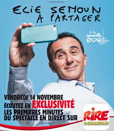 Elie Semoun en direct sur Rire & Chansons