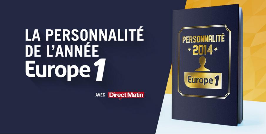 Europe 1 cherche la personnalité de l'année 2014