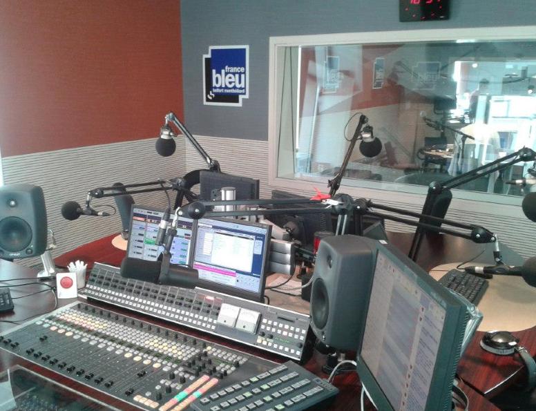 Les studios de France Bleu Belfort-Montbéliard