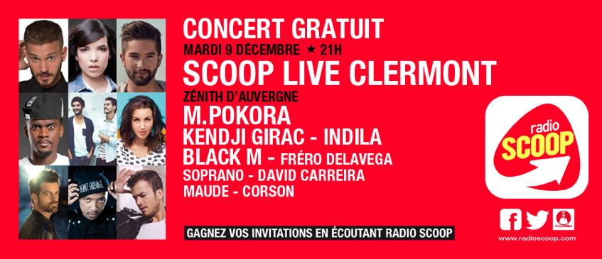 Scoop Live géant à Clermont-Ferrand avec Radio Scoop