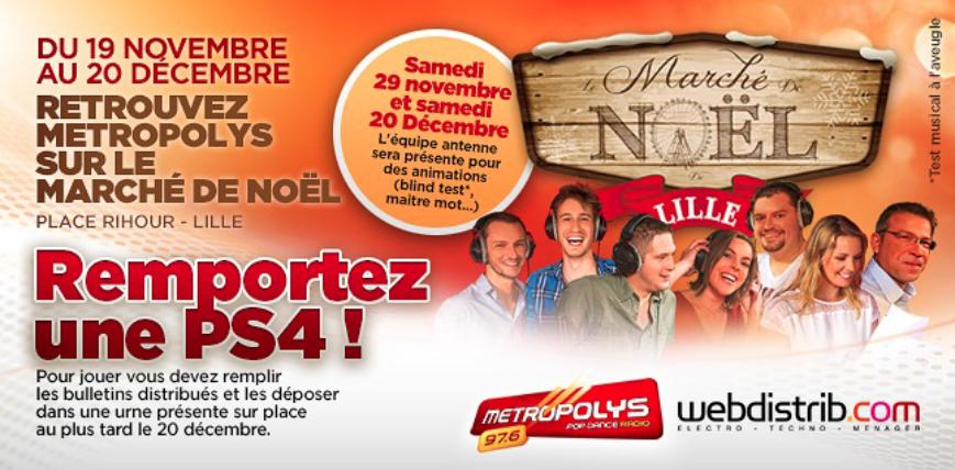 Metropolys, radio officielle du marché de Noël de Lille