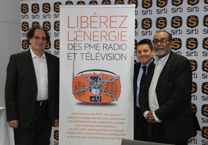 Mathieu Quétel, Philippe Gault, Tarek Mami veulent libérer l'énergie des PME de la radio et de  la télévision © Serge Surpin