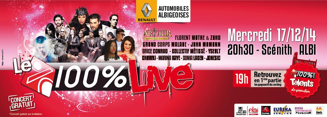 Le Scénith d'Albi accueillera le 100% Live