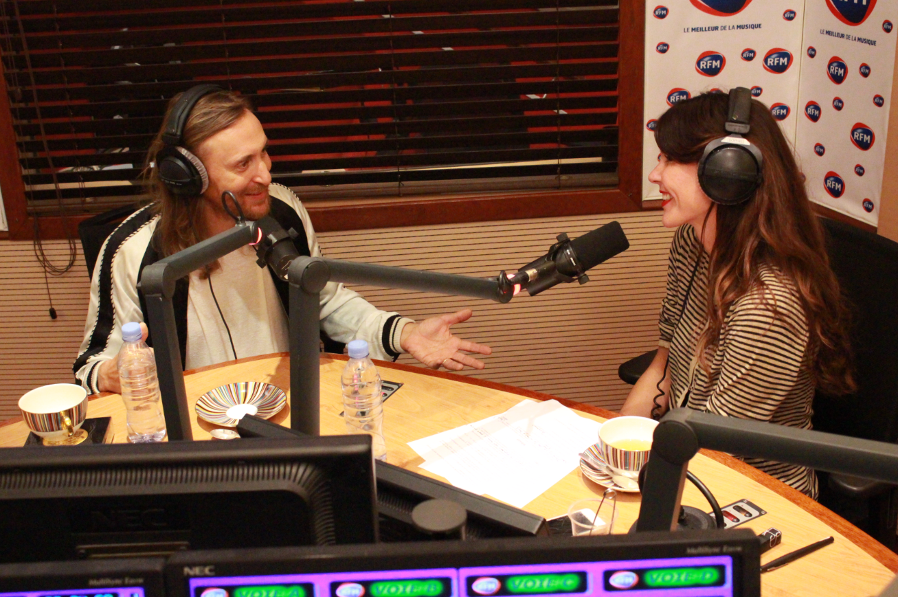 David Guetta et Sophie Coste dans l'Interview V.I.P.  © RFM