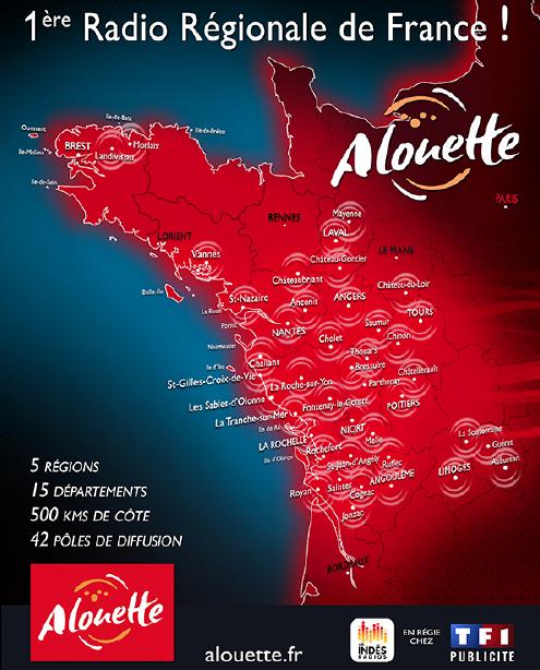 Alouette couvre 5 régions, de Brest à Limoges