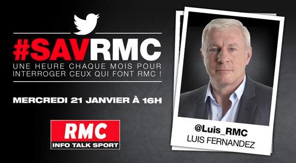 Le #SAVRMC c'est aujourd'hui avec Luis Fernandez