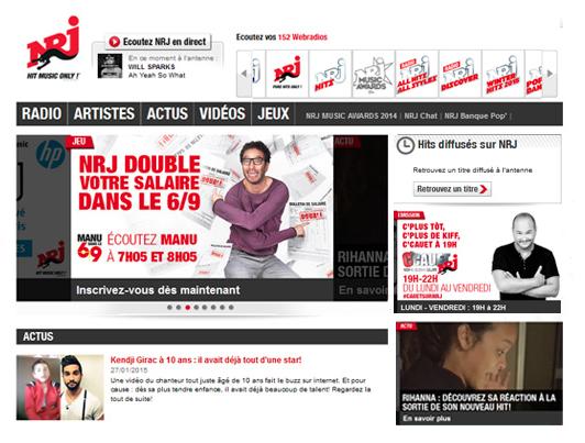 NRJ.fr consacré site Internet de radio préféré des Français