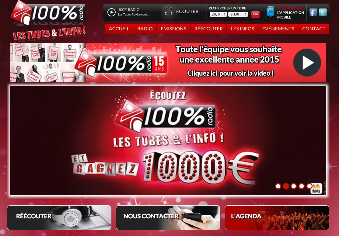 Le site de 100% réalisé grâce au nouveau module WinWeb de WinMedia