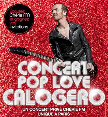 La tournée Pop Love Chérie FM avec Calogero