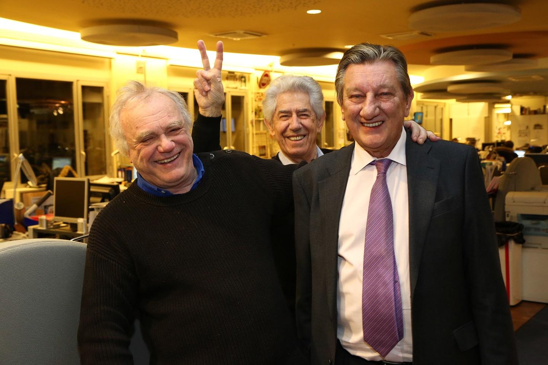 Laurent Cabrol, Philippe Gildas et Gabriel Milesi © Wladimir Simic Capa Pictures - Europe 1
