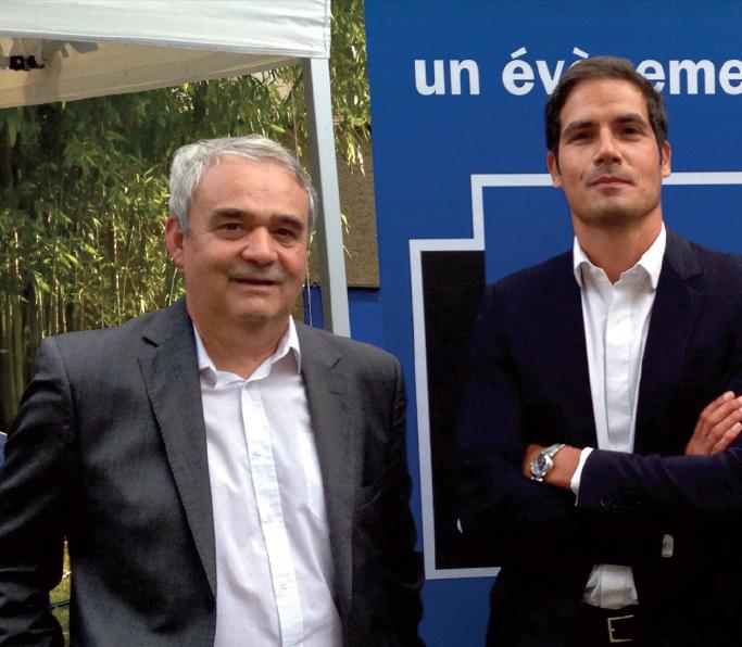 Claude Esclatine l'été dernier à Périgueux avec Mathieu Gallet