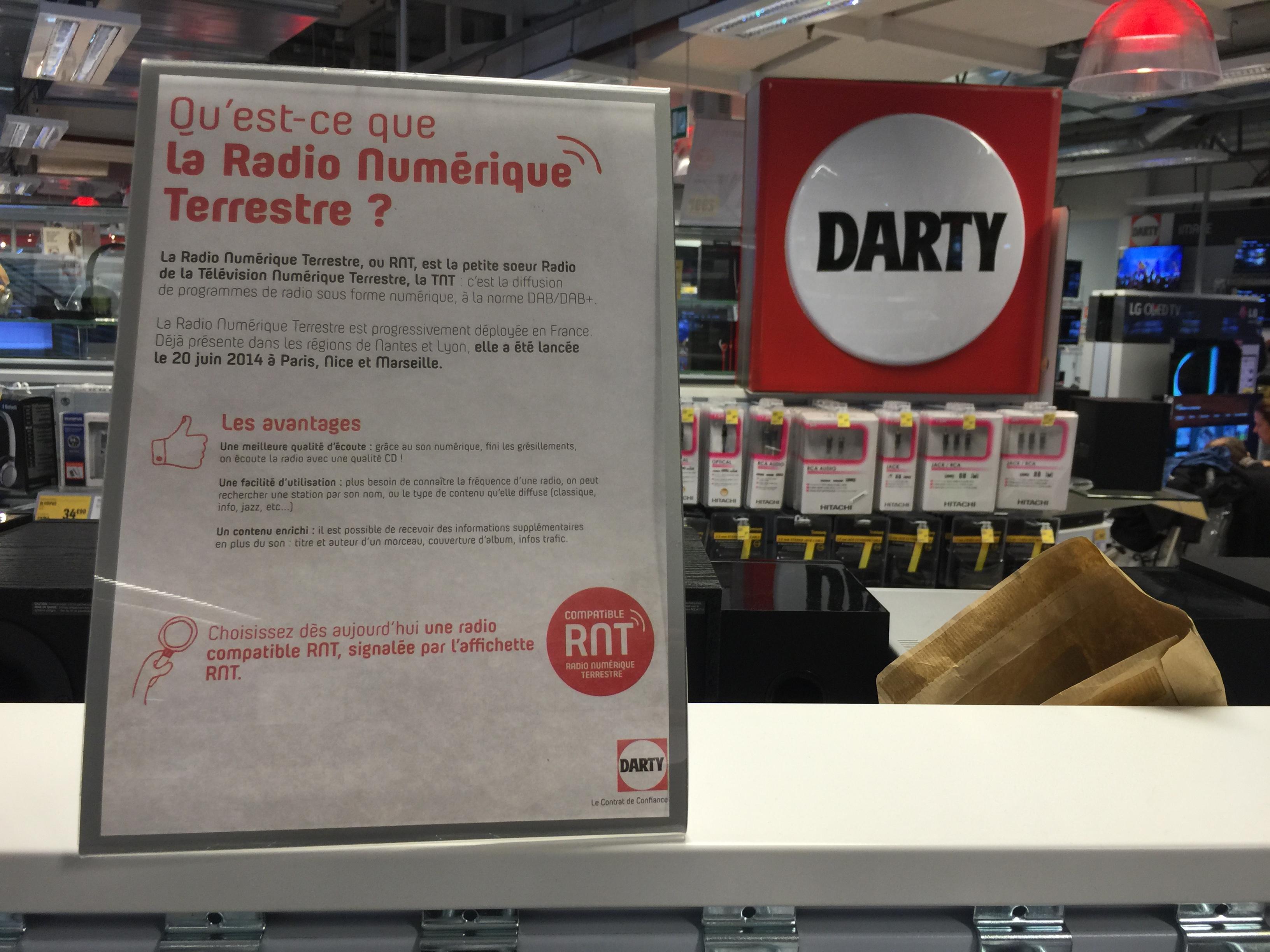 La RNT dans les magasins, c'est pas encore ça !
