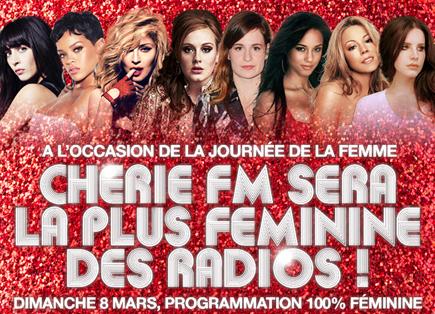 Une programmation 100% féminine, ce dimanche sur Chérie FM