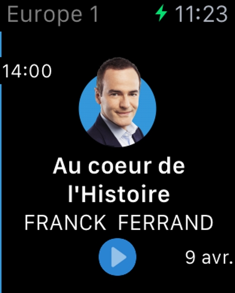 Europe 1 sera diffusée sur l'Apple Watch