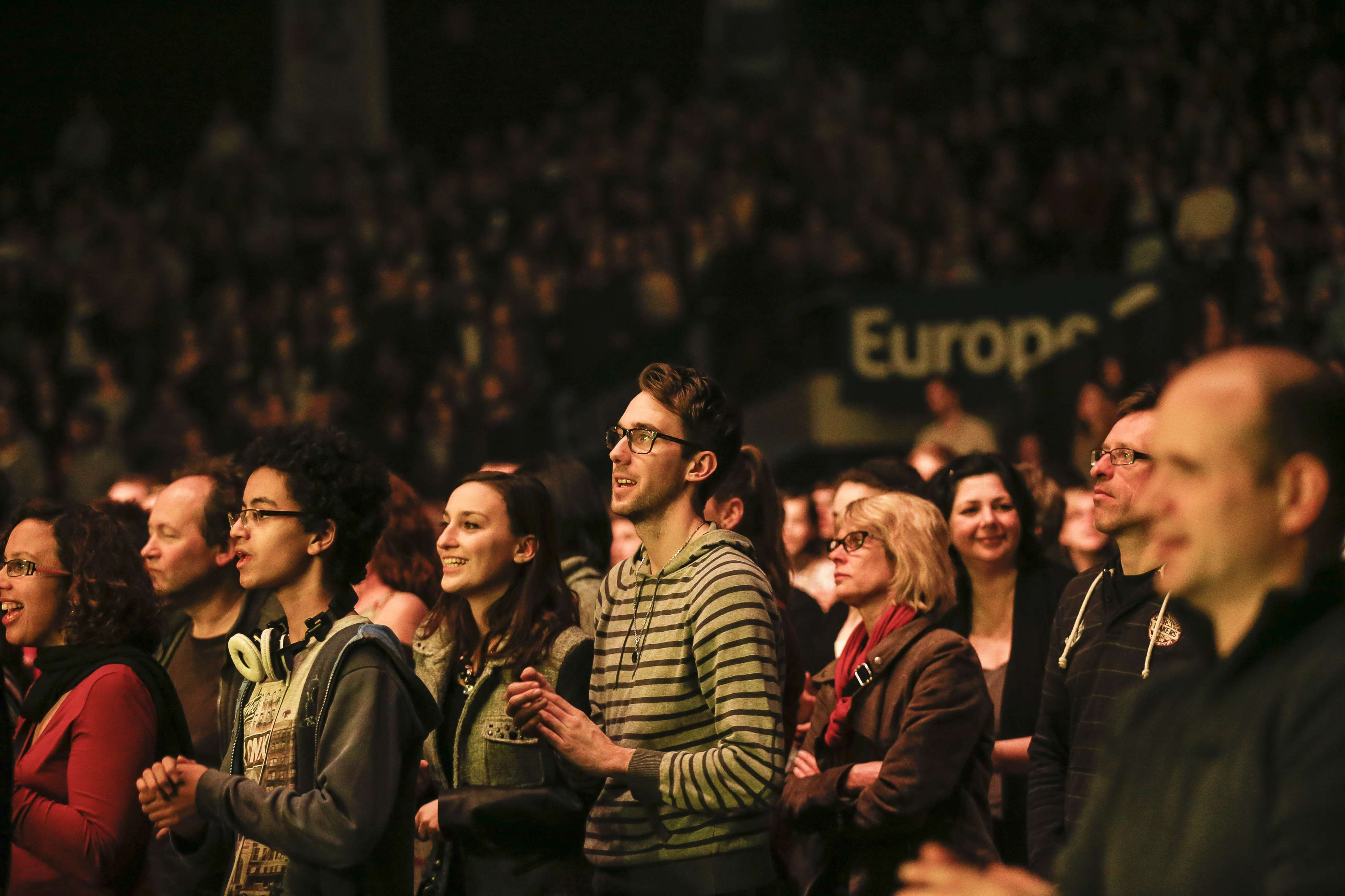 4 000 spectateurs au Zénith de Strasbourg le 5 mars dernier pour le premier Podium Europe 1 des 60 ans © Jean-François Badias - Capa Pictures