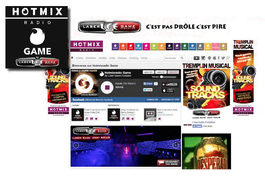 Lancement de HotmixRadio Game