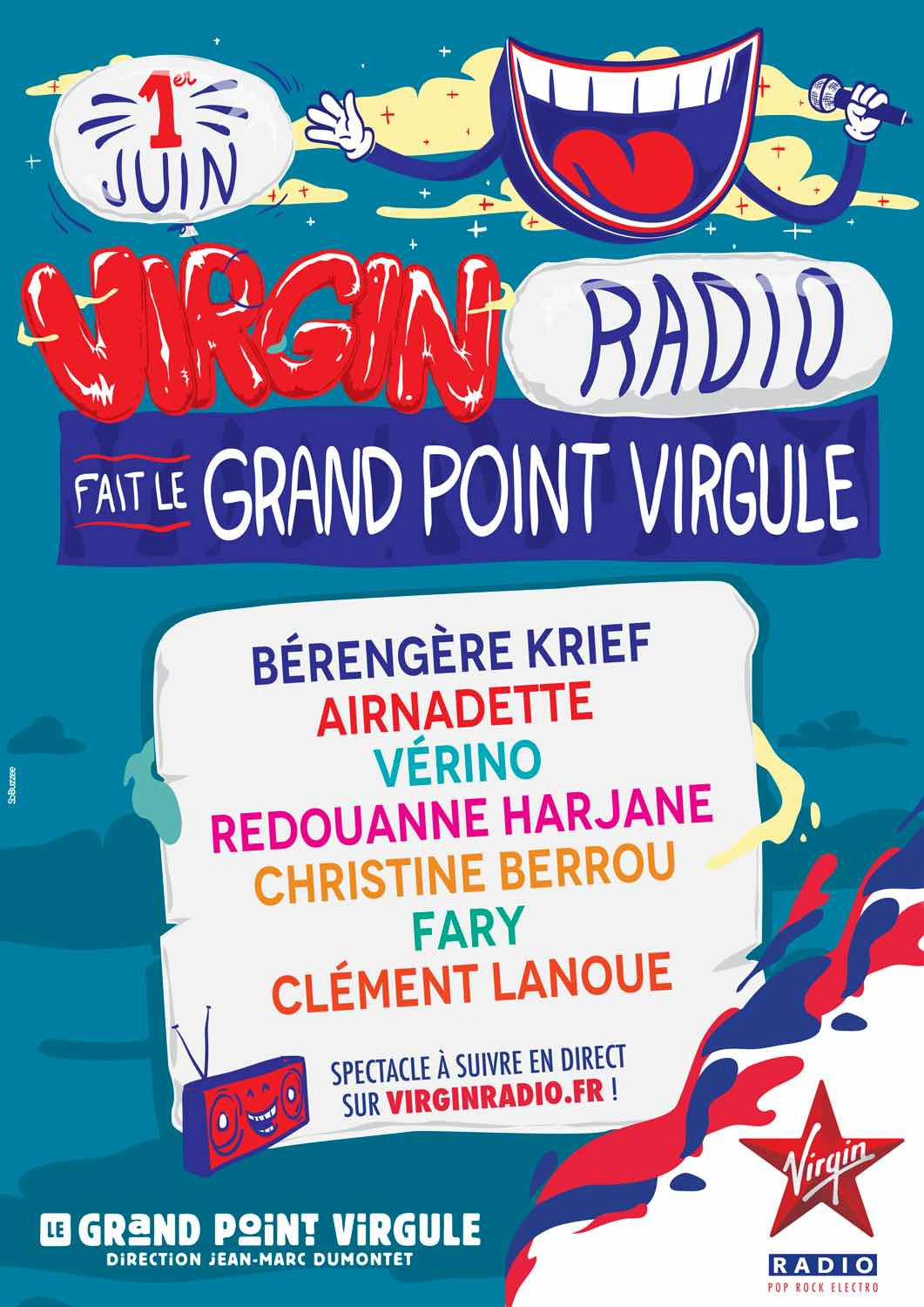 Virgin Radio fait le grand Point Virgule