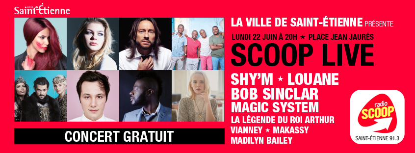 Radio Scoop dévoile l'affiche du Scoop Live