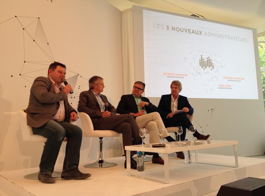 Les 3 nouveaux administrateurs aux Indés Radios (de gauche à droite) : Anthony Eustache, Yann Oger et Jacques Hardoin