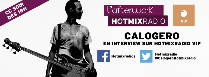 Calogero : une heure d'interview sur Hotmixradio