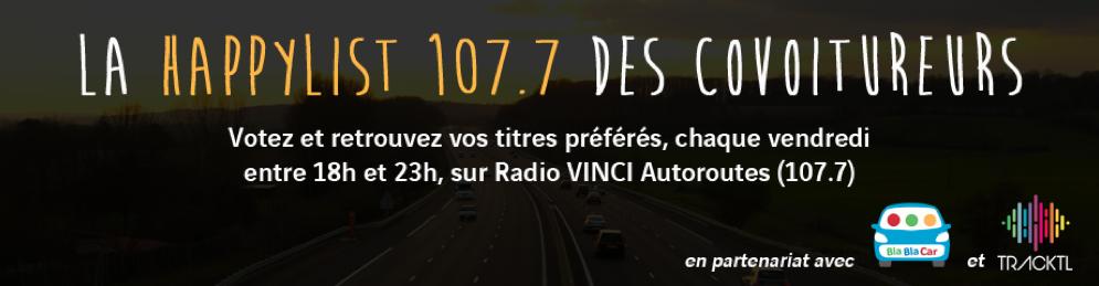 """Radio Vinci et sa """"Happylist 107.7 des covoitureurs"""""""